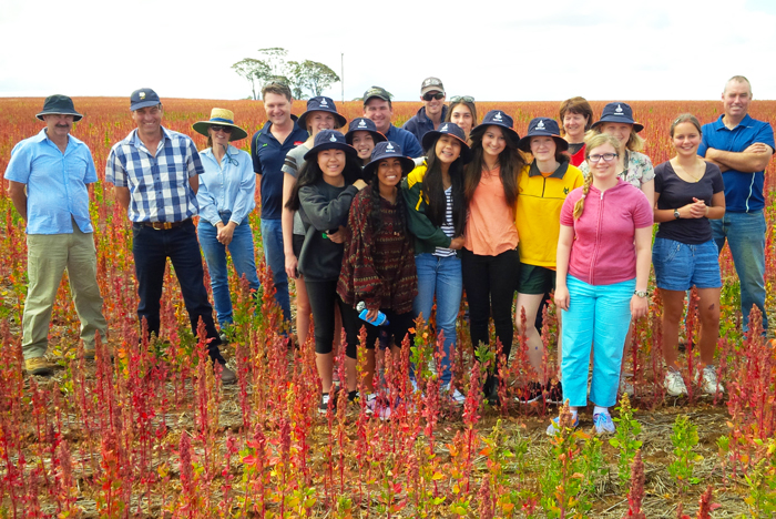 Rabobank Farm Experience participants on farm