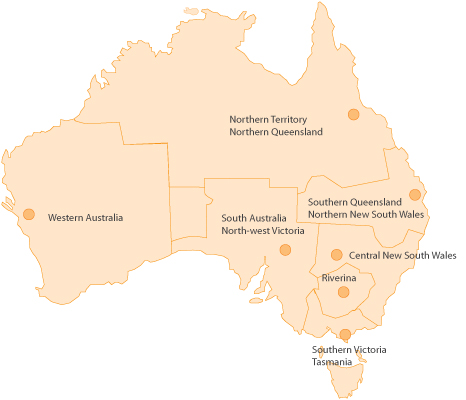 Client Council Locations in Australia