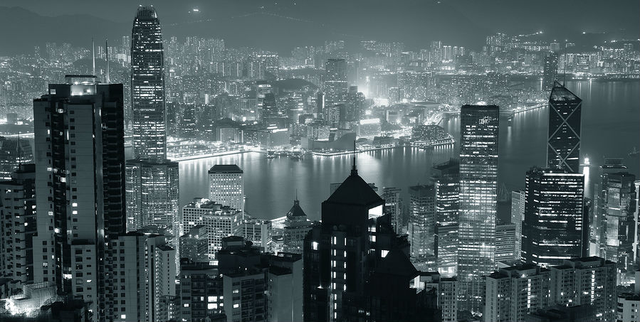 Hong Kong skyline is evidence that Asia is an economic powerhouse.