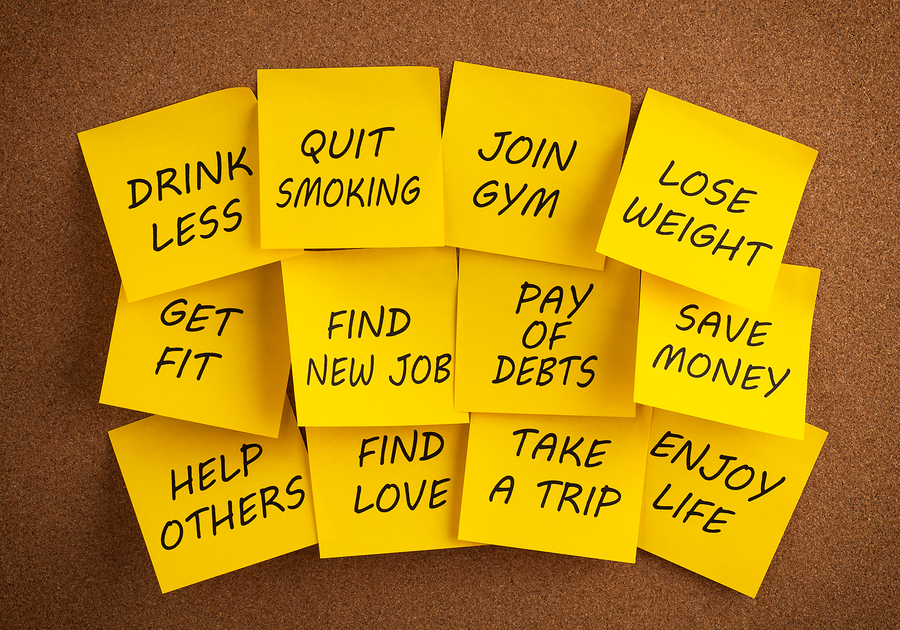 An image of New Year's resolutions